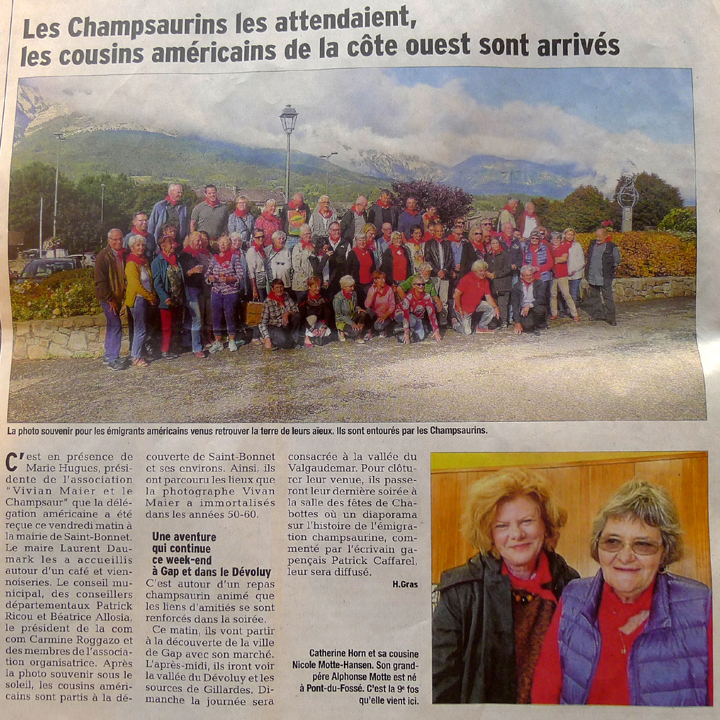P1190164 le dauphine 120918 article rencontres paru le samedi 8 septembre 2018 format carre 1024 photo jean